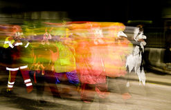 Blurry carnival characters Royalty Free Stock Photos