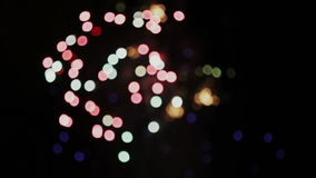 Blurry Celebration and Fireworks Explosions Background stock footage
