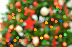 Blurry christmas eve with garlands and decorations Royalty Free Stock Image