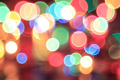Blurry Christmas lights Royalty Free Stock Photography