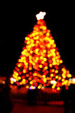 Blurry Christmas tree Stock Image