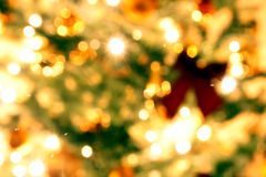 Blurry Christmas tree background Royalty Free Stock Photos