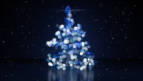 Blurry christmas tree with blue lights stock illustration