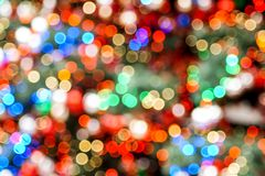 Colorful blurred christmas lights glittering stock photo