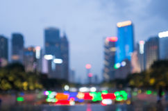 Blurry city background at night Royalty Free Stock Photography
