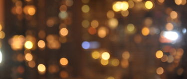Blurry city lights background. Royalty Free Stock Photos