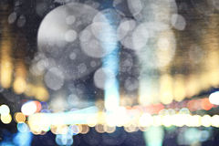 Blurry city lights background Royalty Free Stock Photos
