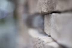 Blurry close up brick wall Royalty Free Stock Photography