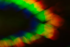 Blurry Colored Lights on Black Background Stock Photo