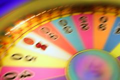 Blurry colorful glow gambling roulette. Motion blur  lights Stock Images