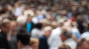 Blurry crowd. Out of focus picture of a crowd gathered in Dusseldorf Germany Royalty Free Stock Image