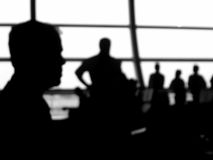 Blurry crowd. Silhouettes of a group of people Royalty Free Stock Images