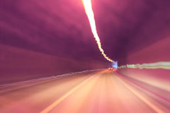 Blurry danger tunnel driving Royalty Free Stock Image