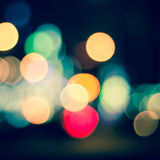 Blurry, defocused, bokeh city lights Stock Photography