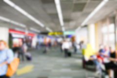 Blurry defocused image of passenger at the airport terminal Royalty Free Stock Image