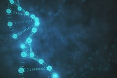 Blurry DNA background. Creative blurry DNA background. Medicine and science concept. 3D Rendering Royalty Free Stock Images