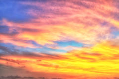 Blurry Dramatic sky at sunrise Stock Images