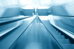 Blurry escalator Stock Image