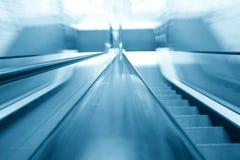 Blurry escalator Stock Image
