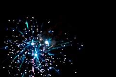 Blurry fireworks Royalty Free Stock Photo