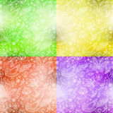 Blurry flower pattern. Set of blurry spring flower backgrounds Stock Image
