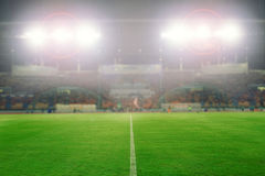Blurry of football and soccer stadium for background ,soft focu. S Stock Photo