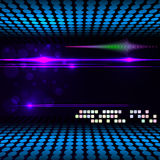 Blurry Glowing Neon Effect Background. Stock Photo
