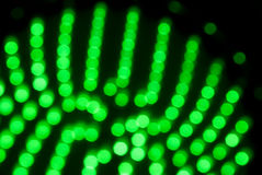 Blurry green lights in pattern Stock Photos