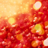 Blurry hearts background Royalty Free Stock Images