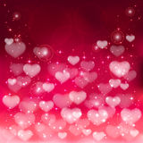 Blurry hearts Royalty Free Stock Images