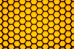 Blurry hexagonal geometry pattern Stock Photo