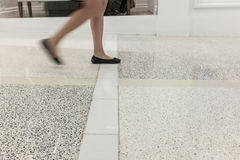 Blurry legs and feet Royalty Free Stock Images