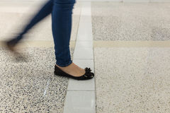 Blurry legs and feet Stock Image