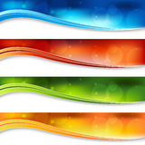 Blurry Light Banners. A banner set of a blurry light background vector illustration