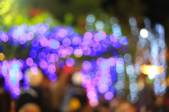 Blurry light neon night abstract background. Royalty Free Stock Images