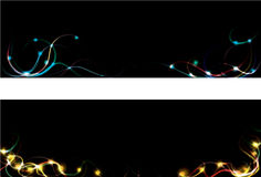 Blurry light streak web banners. Two blurry light streak web banners Royalty Free Stock Images