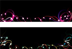Blurry light streak web banners Royalty Free Stock Photo