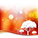 Blurry Light Tree Background vector illustration