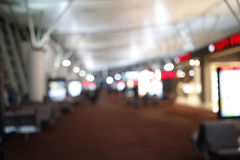 Blurry Lights of Airport Terminal Stock Image