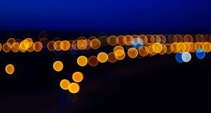 Blurry Lights. Bokeh of the night city vector illustration