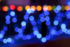 Blurry lights Royalty Free Stock Image