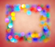 Blurry lights empty frame border background. Royalty Free Stock Images