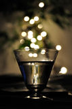 Blurry lights and glass. Royalty Free Stock Photo