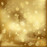Blurry lights with snowflakes Royalty Free Stock Photography