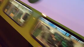 blurry new go train 20151120_171231 royalty free stock images