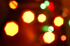 Blurry pattern christmas light Stock Images