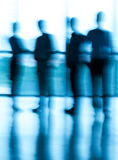 Blurry people. Blurry businesspeople standing at the office Royalty Free Stock Photo