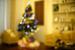 Blurry photo of christmas tree Stock Images