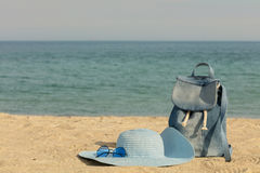 Blurry photo - sea concept. Relax on the beach. Selective focus Royalty Free Stock Images