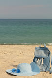 Blurry photo - sea concept. Relax on the beach. Selective focus Royalty Free Stock Image